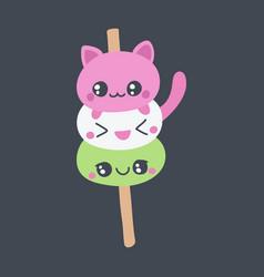 dango or mochi doodle vector image