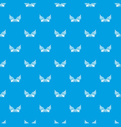 eagle wing pattern seamless blue vector image