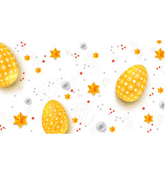 easter decorative banner three-dimensions easter vector image