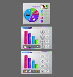 eco infographic set vector image