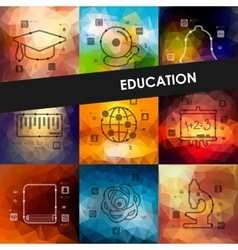 education timeline infographics with blurred vector image