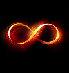 Fire symbol of infinity vector