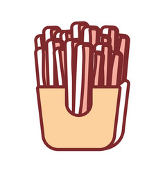 french fries design vector image