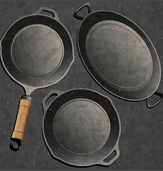 Frying pan design vector