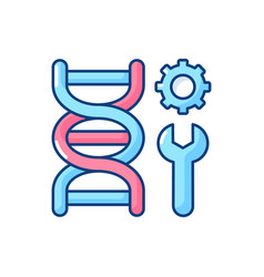 genetic engineering rgb color icon vector image