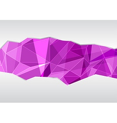Geometric background template - for folder vector image