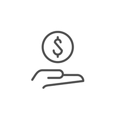 giving money line outline icon vector image