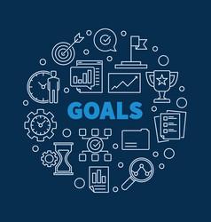 Goals circular concept in vector
