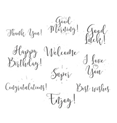 Good luck enjoy happy birthday Set of modern vector