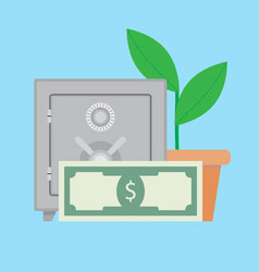 Growth deposit finance vector