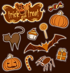 Halloween sticker set vector