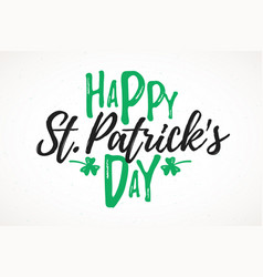 happy st patricks day greeting card 17 march vector image