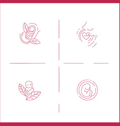 Icon and logo for pegnancy and gynecology vector