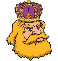 king head logo mascot vector image