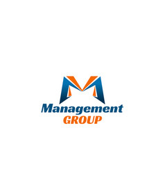management group icon vector image
