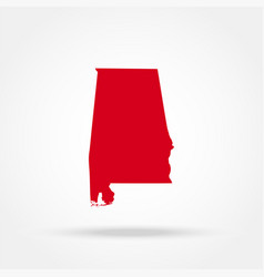 Map state of alabama vector