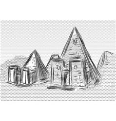 Meroe pyramids vector