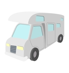 Mobile home truck cartoon icon vector