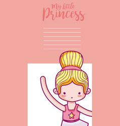 My little princess cute card vector