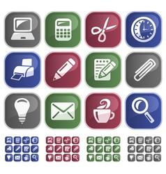 Office buttons vector image