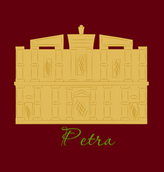 One of new 7 wonders of the world petra vector