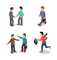 Ordinary people everyday activities vector