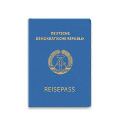 Passport east germany vector