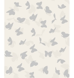 pattern of flying butterflies vector image
