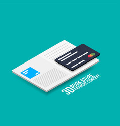 Payment for e-book or e-magazine concept vector