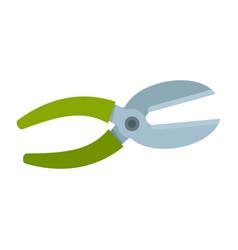 plant scissors icon flat style vector image
