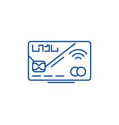 plastic card line icon concept plastic card flat vector image