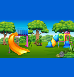 playground in the garden vector image