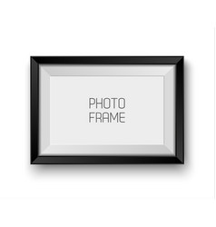 realistic picture frame isolated vector image