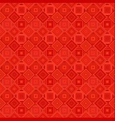 red geometric diagonal square pattern - tile vector image