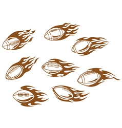 Rugby and football tattoos vector image