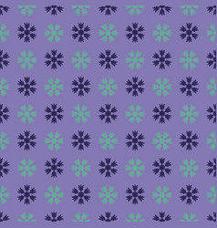 seamless art pattern with snowflakes on lilac vector image