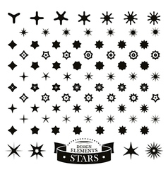 Set of different stars vector image