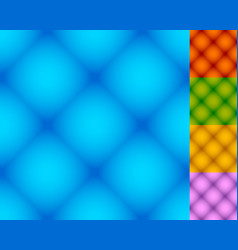 set of repeatable square patterns in 5 distinct vector image