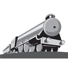 steam train locomotive retro vector image