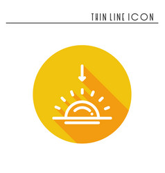sun line simple icon weather symbols sunrise vector image
