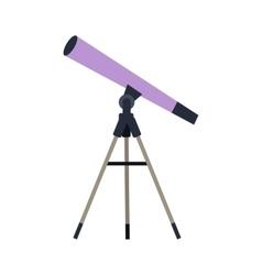 Telescope in flat style design vector