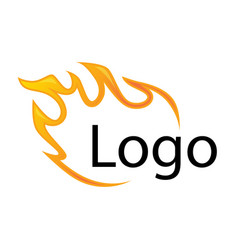template element for logo flame fire design vector image