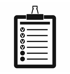 To do list icon simple style vector