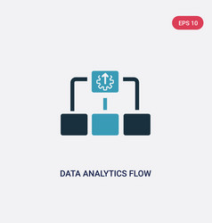 two color data analytics flow chart icon from vector image