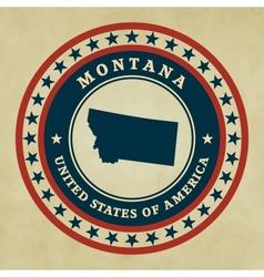 Vintage label Montana vector