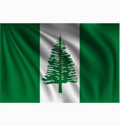Waving norfolk island vector