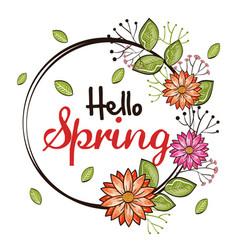 Welcome spring design vector