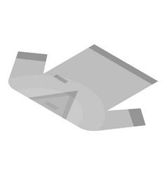 white tshirt icon isometric style vector image