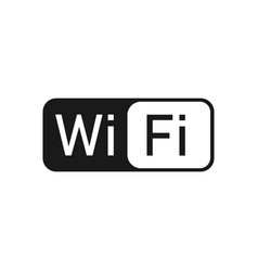 wifi logo icon flat design vector image