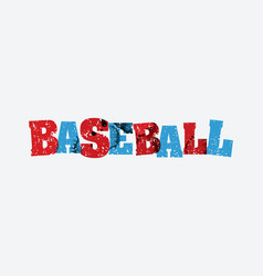 baseball concept stamped word art vector image vector image